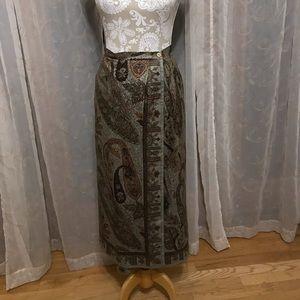 Talbots Maxi Wrap Turkish Look Skirt 14P/ 10? NWOT